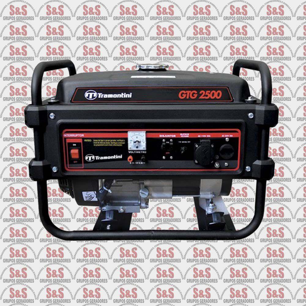 Gerador de Energia a Gasolina 2,5 KVA - Monofásico - Partida Manual - GTG2500 - Tramontini