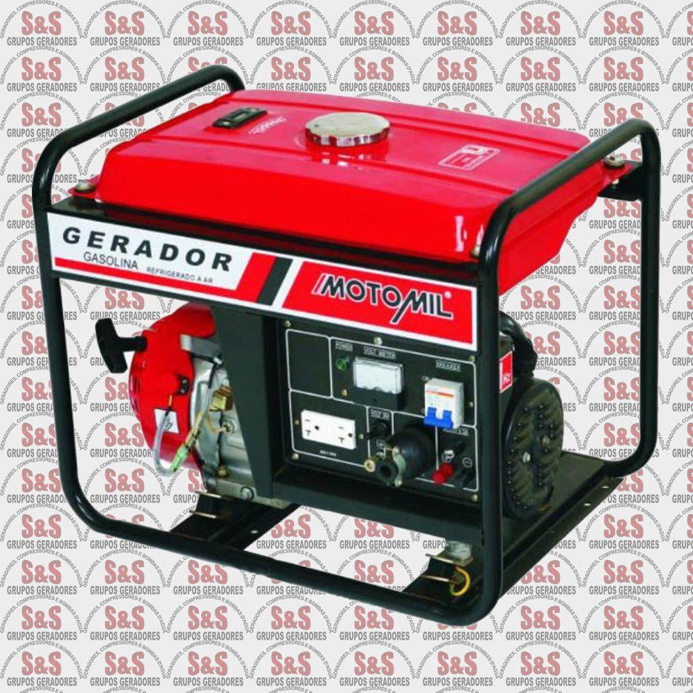 Gerador de Energia a Gasolina 2,5 KVA - Monofásico - Partida Manual - MG3000CL - Motomil