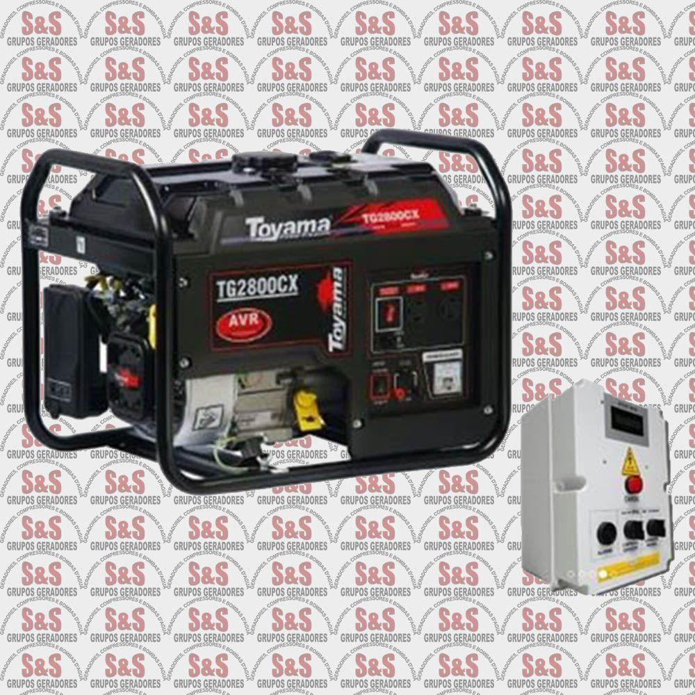Gerador de Energia a Gasolina 2.7 KVA - Monofásico - Partida Automática - TG2800CXEQTA - Toyama