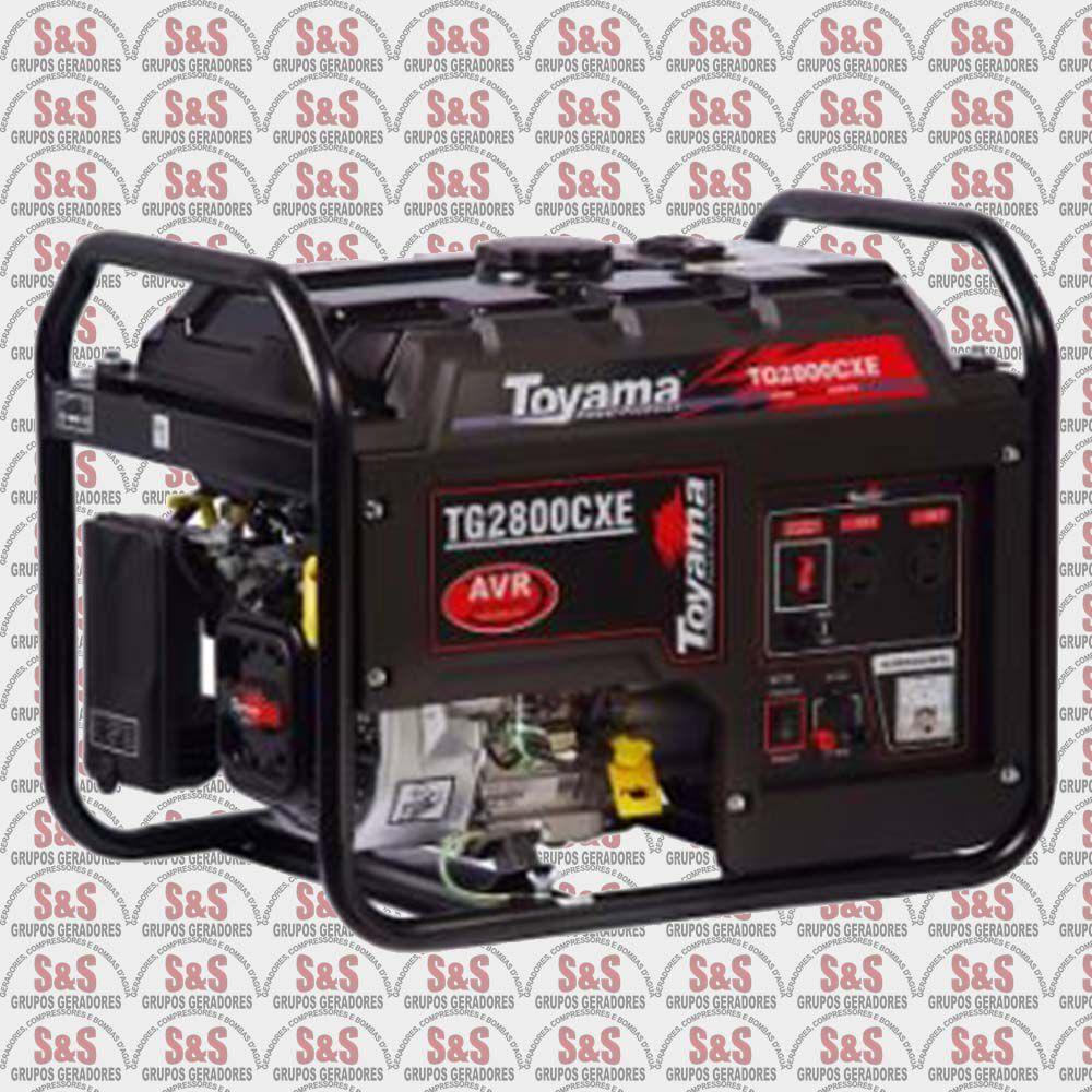Gerador de Energia a Gasolina 2.7 KVA - Monofásico - Partida Elétrica - TG2800CXE-XP - Toyama