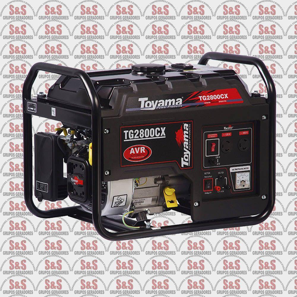 Gerador de Energia a Gasolina 2.7 KVA - Monofásico - Partida Manual - TG2800CX-XP - Toyama