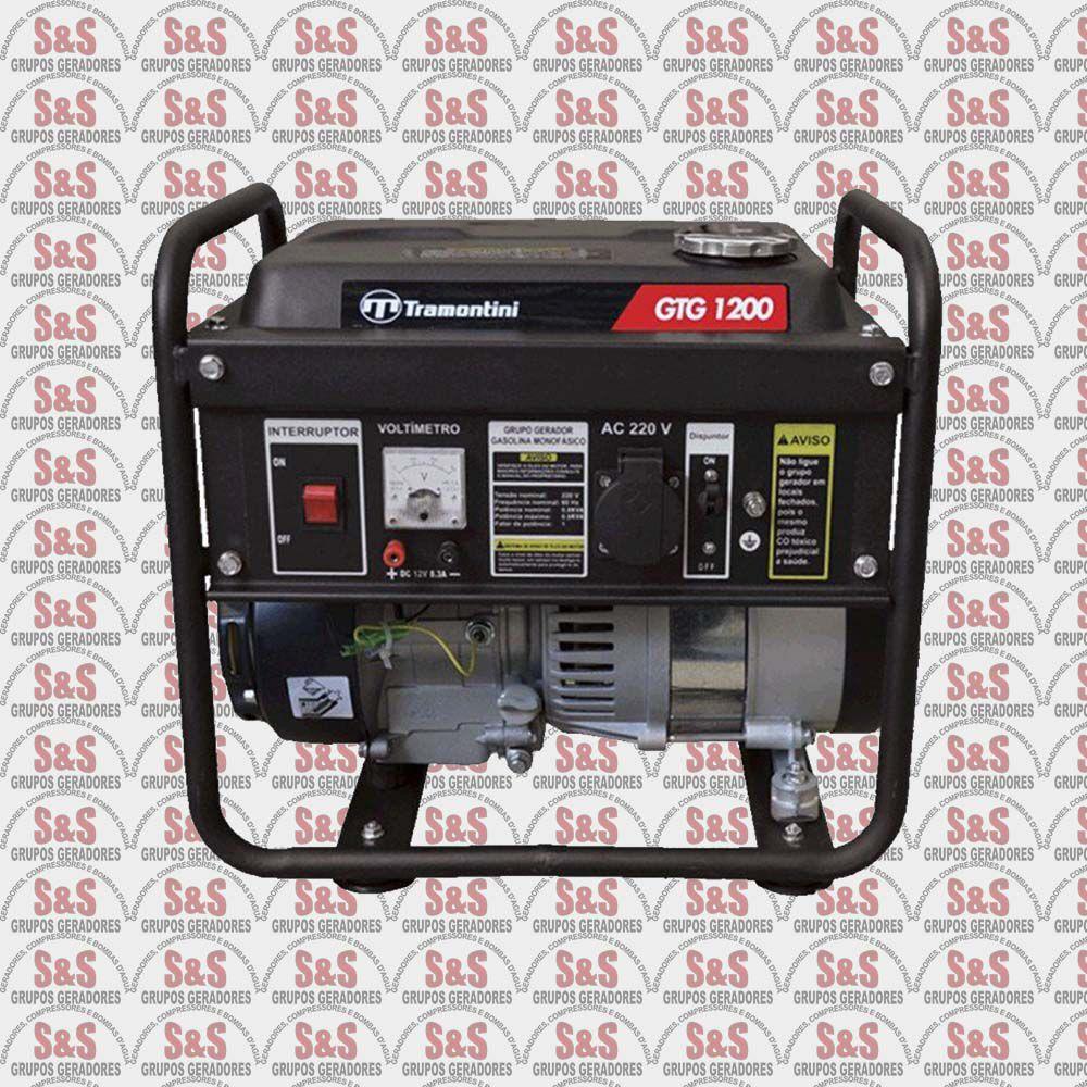 Gerador de Energia a Gasolina 2 KVA - Monofásico - Partida Manual - GTG1200- 110 Volts - Tramontini