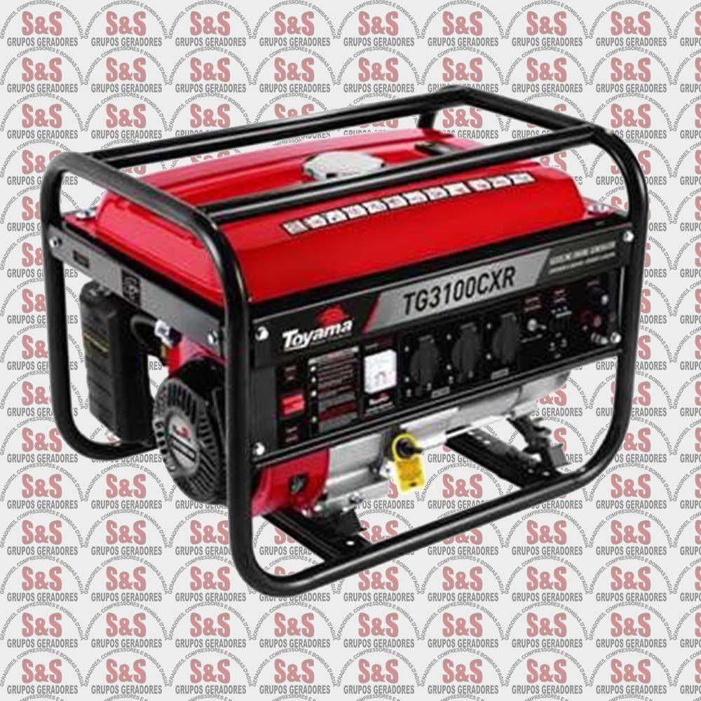 Gerador de Energia a Gasolina 3.1Kva- Part. Manual- Monofasico- TG3100CXR-Toyama