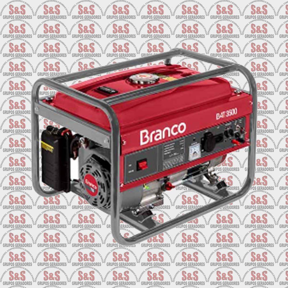 Gerador de energia a Gasolina 3.5 KVA Bivolt - B4T3500 - Partida Manual - Branco