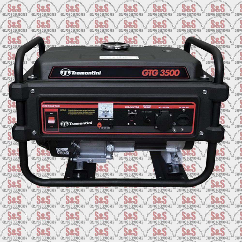 Gerador de Energia a Gasolina 3,5 KVA - Monofásico - Partida Manual - GTG3500 - Tramontini