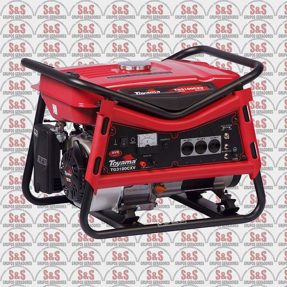 Gerador de Energia a Gasolina 3 KVA - Monofásico - Partida Manual - TG3100CXV - Toyama