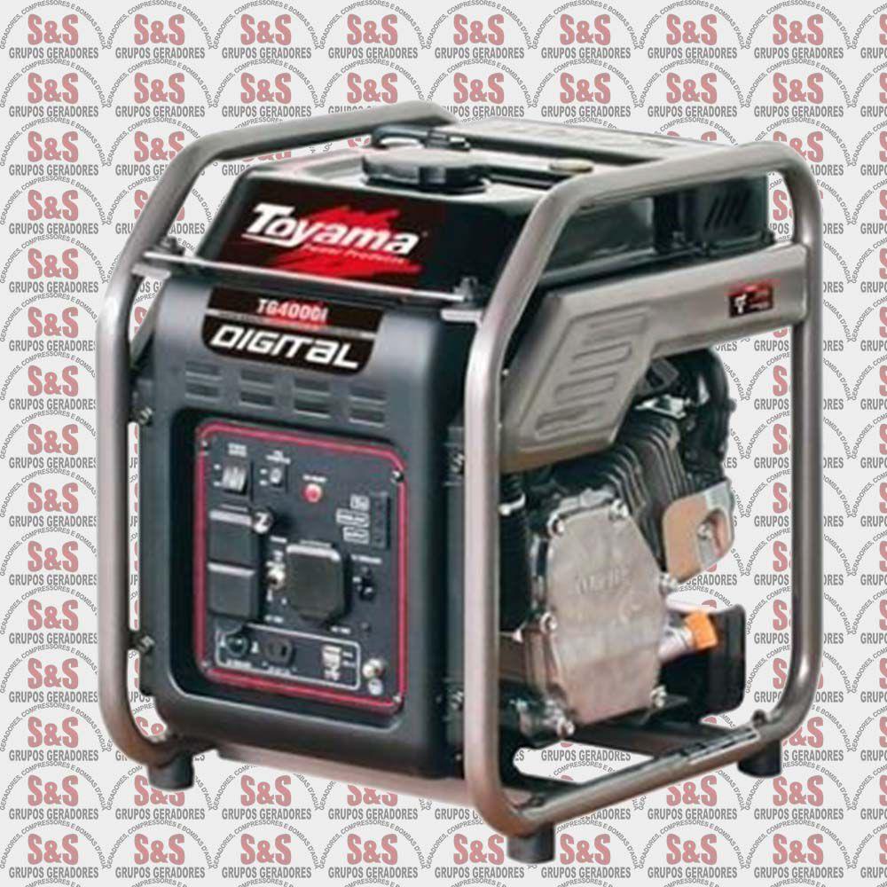 Gerador de energia digital à gasolina 220V- 4 kva -Monofasico- 4 tempos - TG4000IP
