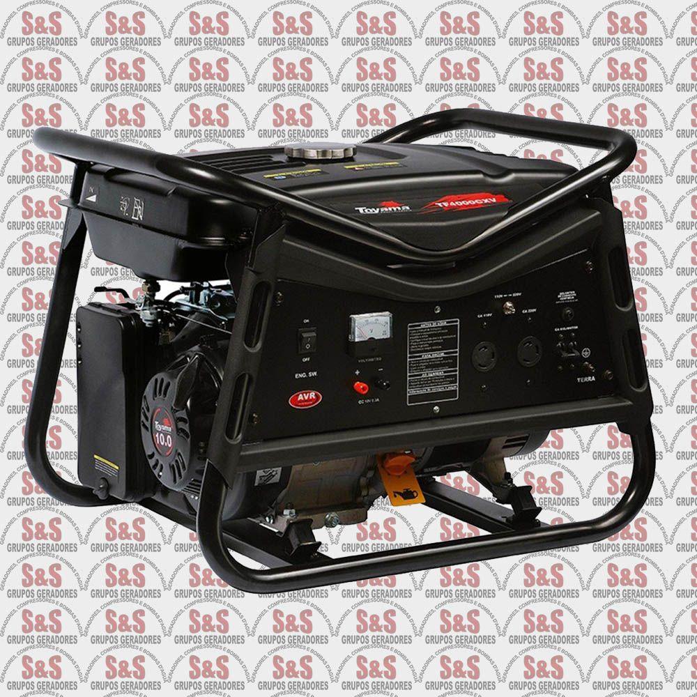Gerador de Energia a Gasolina 4 KVA - Monofásico - Partida Manual - TF4000CX2V - Toyama