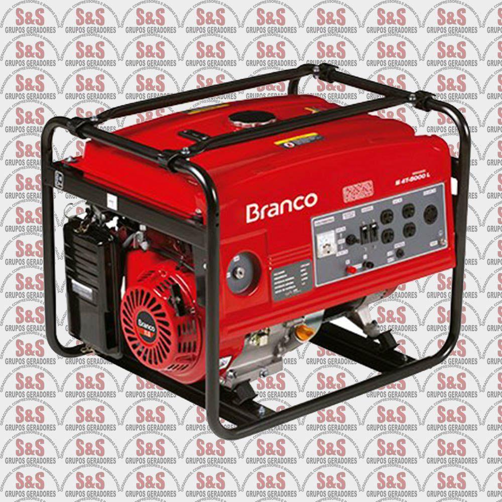 Gerador de Energia a Gasolina 5.5 KVA - Monofásico - B4T6500 - Branco