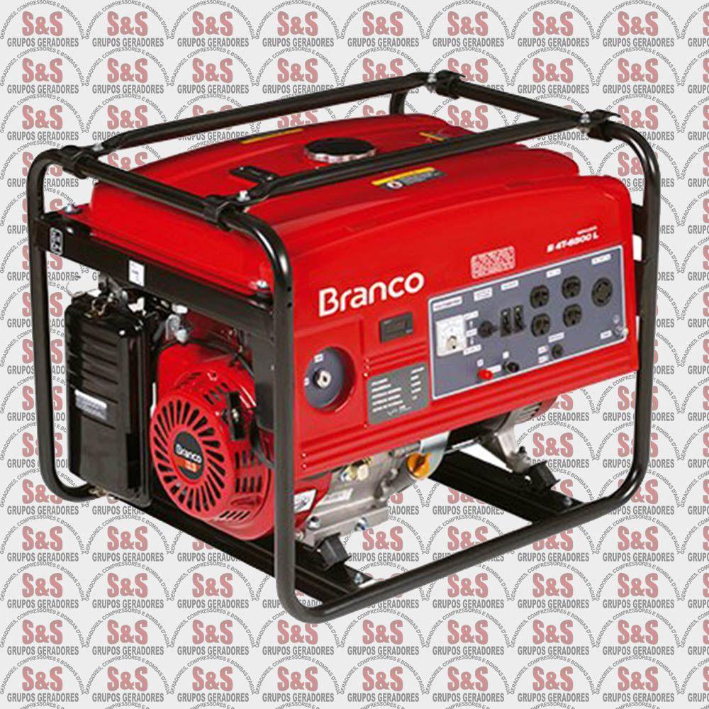 Gerador de Energia a Gasolina 5.5 KVA - Monofásico - Partida Elétrica - B4T6500E - Branco