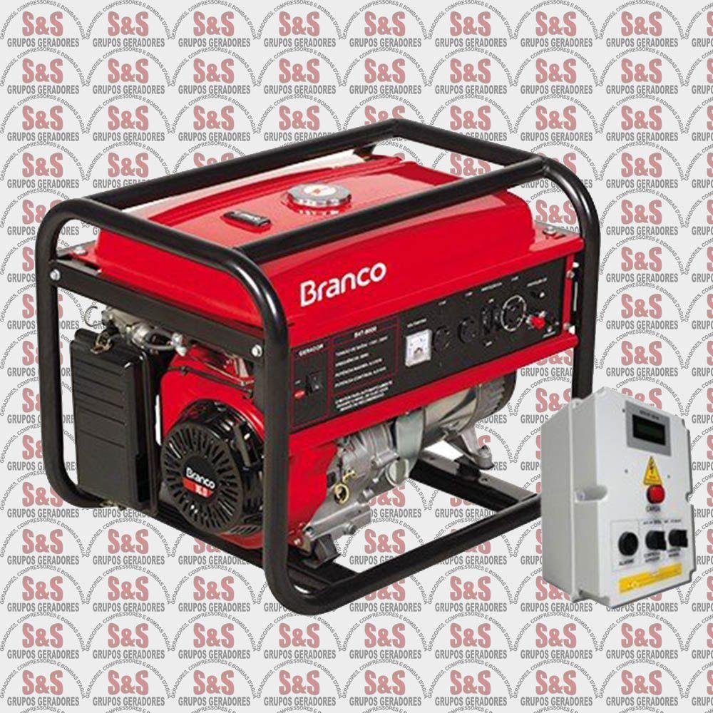 Gerador de Energia a Gasolina 6.5 KVA - Monofásico - Partida Elétrica com QTA - B4T8000EQTA - Branco