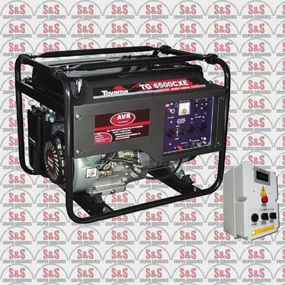 Gerador de Energia a Gasolina 6 KVA - Monofásico - Partida Automática - TG6500CXEQTA - Toyama