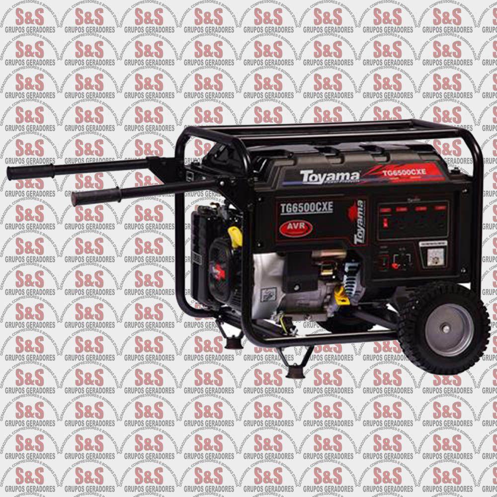 Gerador de Energia a Gasolina 6 KVA - Monofásico - Partida Elétrica - TG6500CXE - Toyama