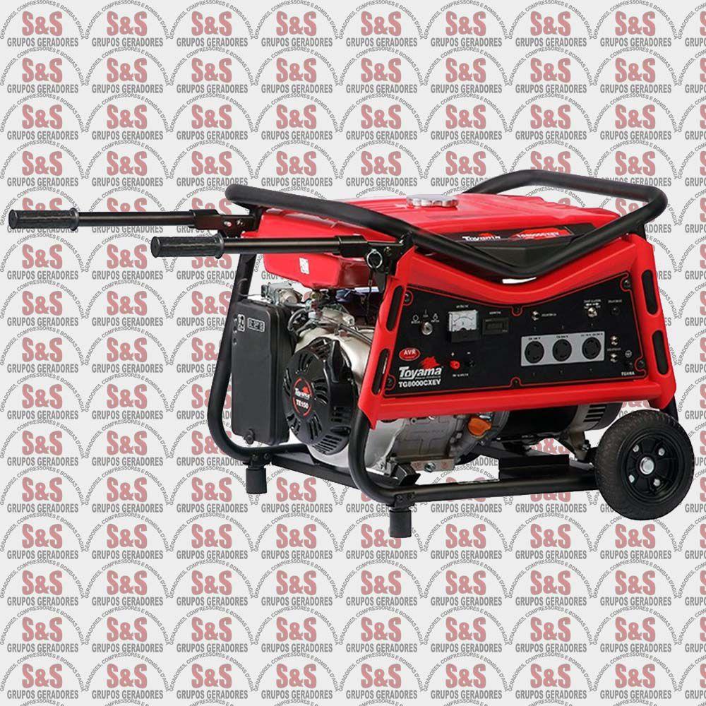 Gerador de Energia a Gasolina 7 KVA - Monofásico - Partida Elétrica - TG8000CXEV - Toyama