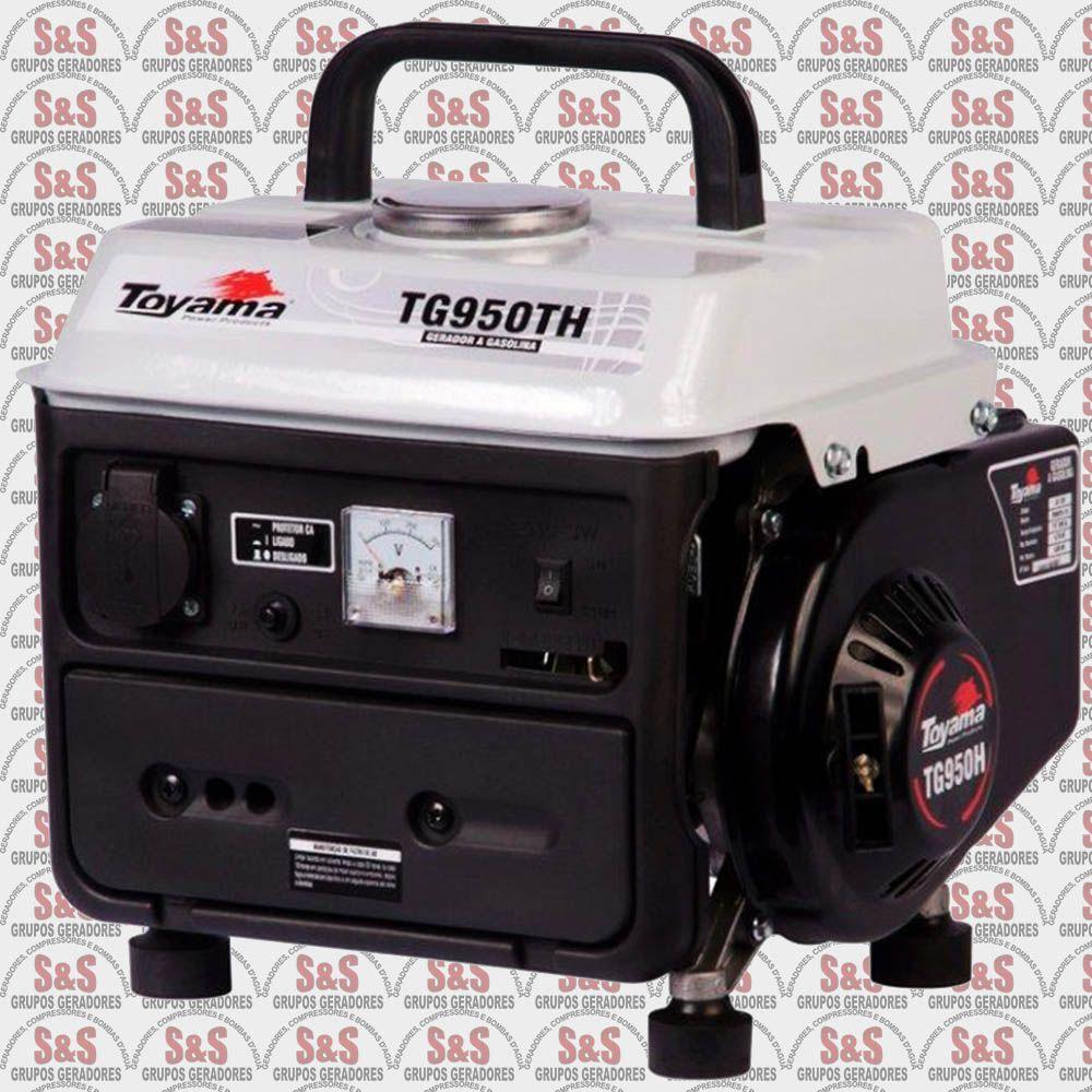 Gerador de Energia a Gasolina 850 Watts - Portátil - Monofásico 220V - Partida Manual - TG950TH-220 - Toyama