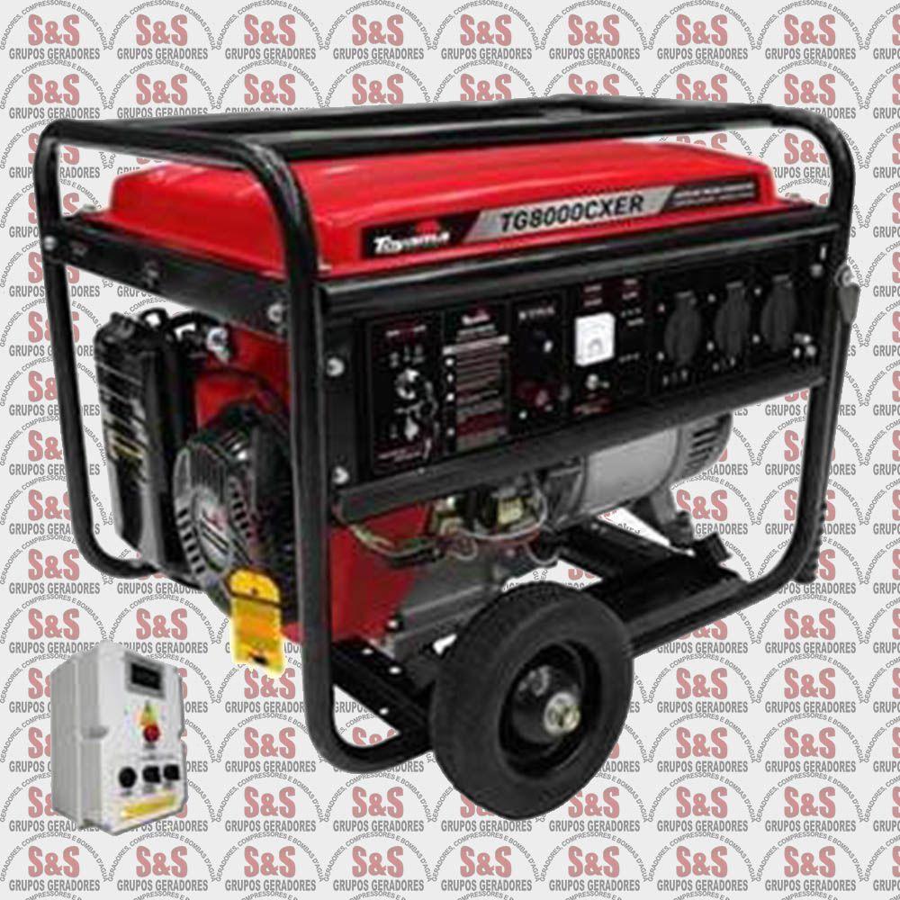 Gerador de Energia a Gasolina- 8 Kva- Monofasico-Part. Eletrica com QTA- TG8000CXER - QTA - Toyama