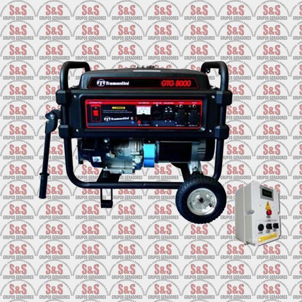 Gerador de Energia a Gasolina 8 KVA - Monofásico - Partida Automática - GTG8000QTA- Tramontini