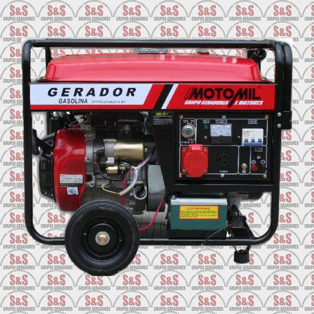 Gerador de Energia a Gasolina 8 KVA - Monofásico - Partida Elétrica - MGG8000CLE - Motomil