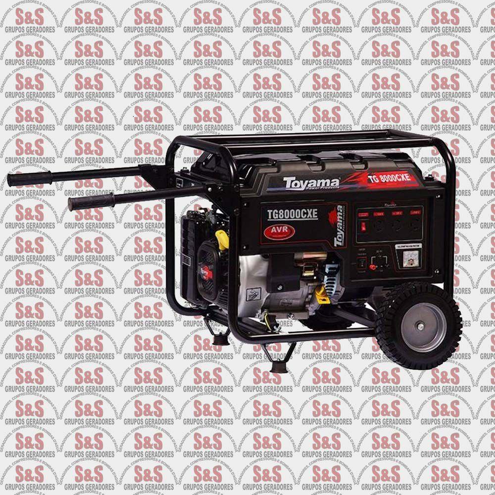 Gerador de Energia a Gasolina 8 KVA - Monofásico - Partida Elétrica - TG8000CXE-XP - Toyama