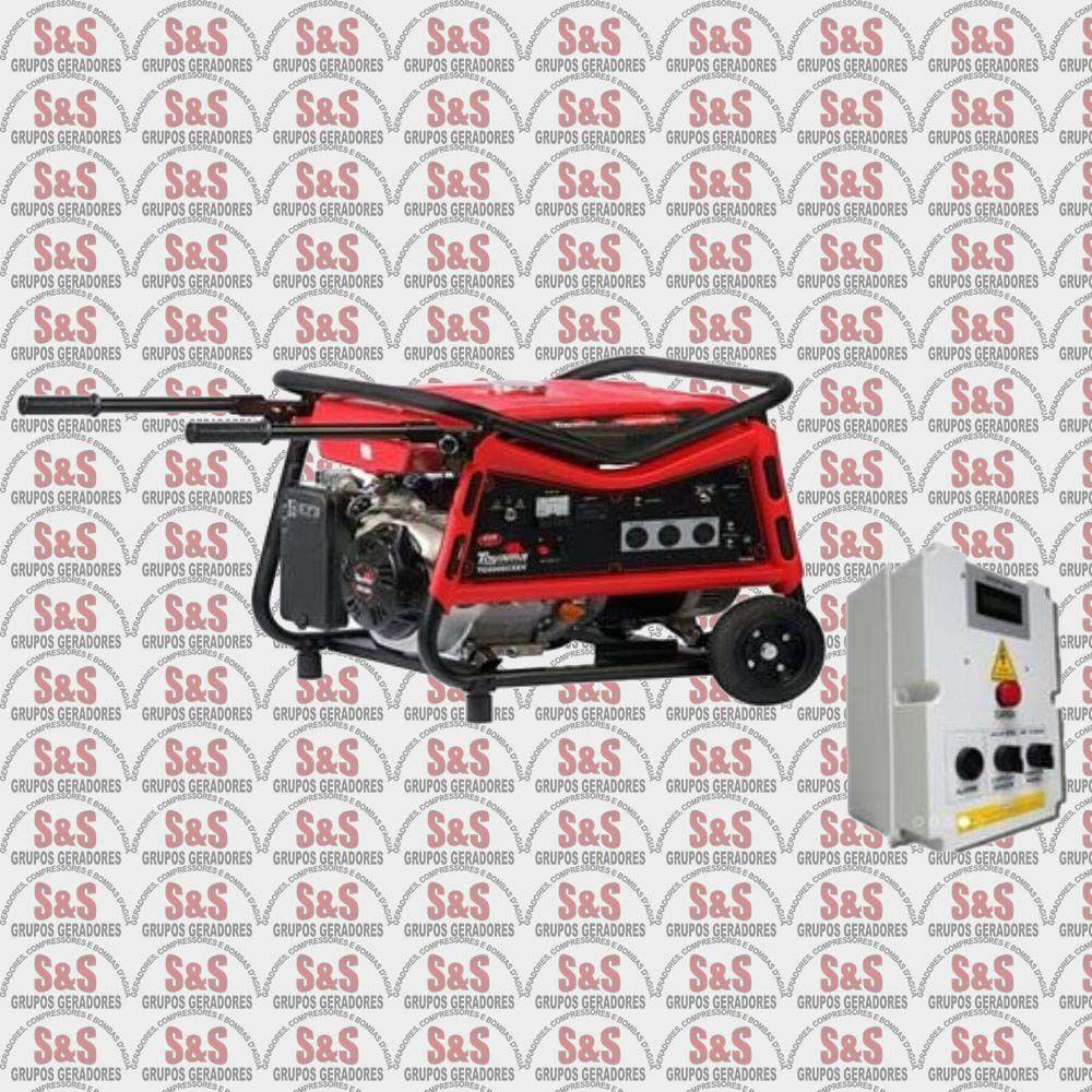 Gerador de Energia a Gasolina 8 KVA - Trifásico 220V - Partida Automática - TG8000CXEV3DQTA - Toyama