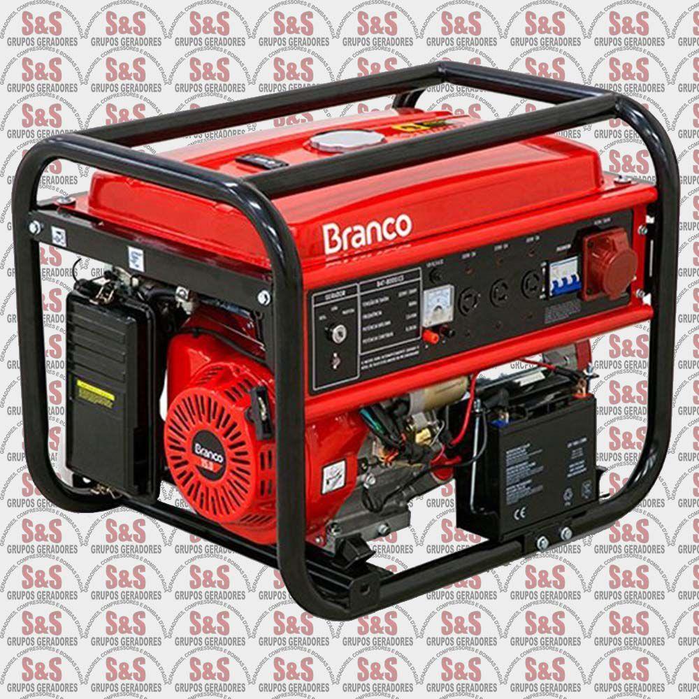 Gerador de Energia a Gasolina 8 KVA - Trifásico 220V - Partida Elétrica - B4T8000E3 - Branco
