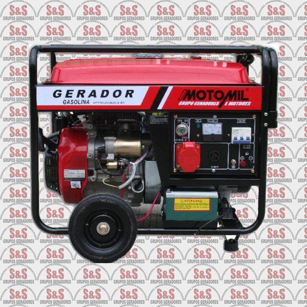 Gerador de Energia a Gasolina 8 KVA - Trifásico 220V - Partida Elétrica - MGT8000CLE - Motomil