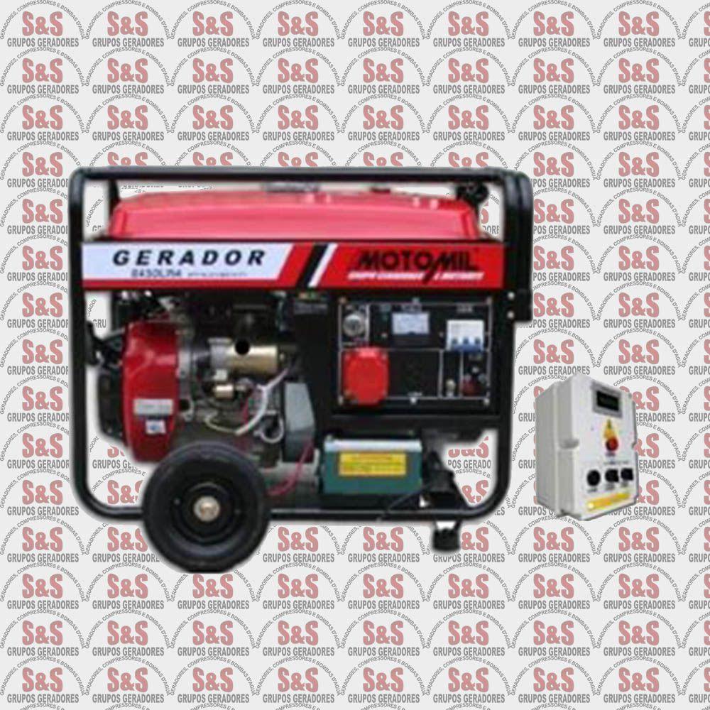 Gerador de Energia a Gasolina 8 KVA - Trifásico 380V - Partida Elétrica - MGT8000CLE QTA 30 Amperes - Motomil