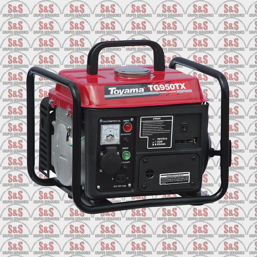 Gerador de Energia a Gasolina 950 Watts - Portátil - Monofásico 110V - Partida Manual - TG950TX - Toyama