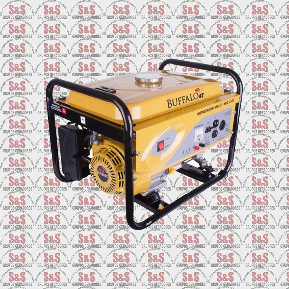Gerador de Energia a Gasolina - Monofásico 1,2  KVA - Partida Manual -BFG1200 - Buffalo