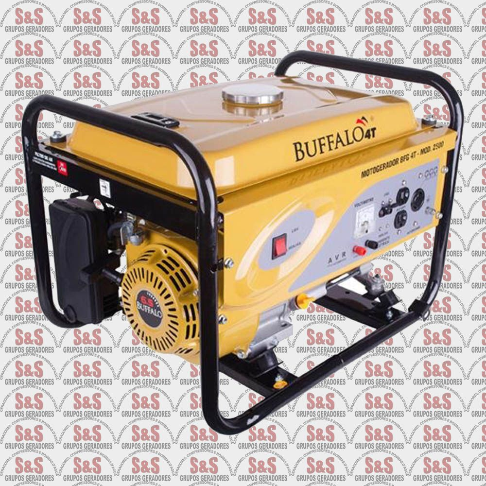 Gerador de Energia a Gasolina - Monofásico 2,5 KVA - Partida Eletrica -BFGE2500- Buffalo