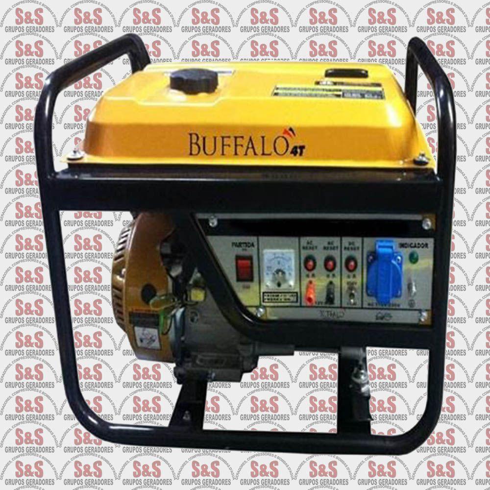 Gerador de Energia a Gasolina Monofásico 2,5 KVA, Partida Manual -BFG2500 STD - Buffalo