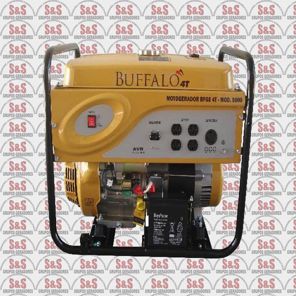 Gerador de Energia a Gasolina -Monofásico 5 KVA - Partida Manual -BFG5000- Buffalo