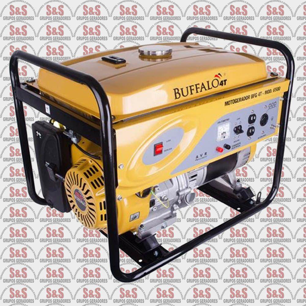Gerador de Energia a Gasolina - Monofásico 6,5 KVA - Partida Manual -BFG6500- Buffalo