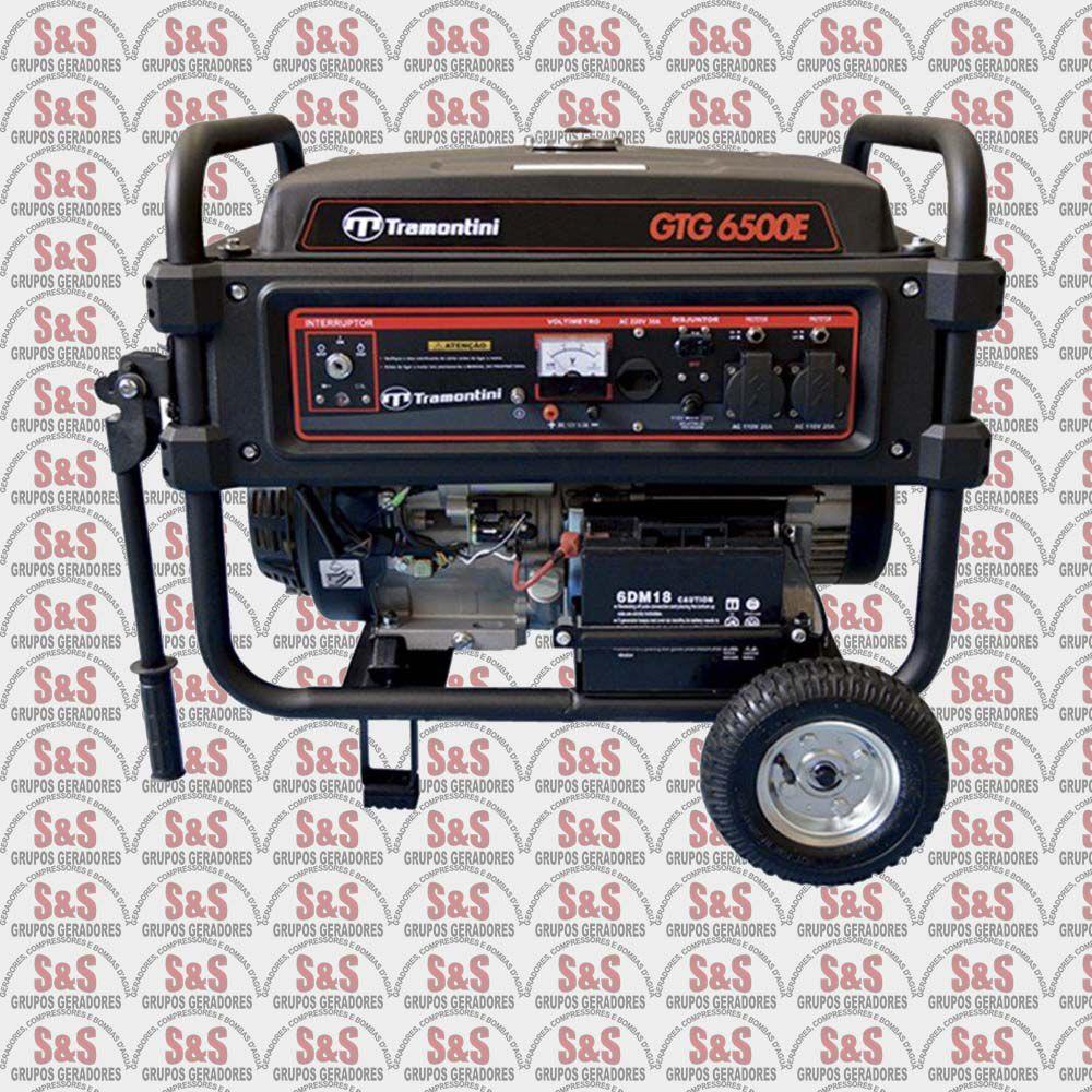 Gerador de Energia a Gasolina - Monofásico 6,5 KVA - Partida Manual - GTG6500 - Tramontini