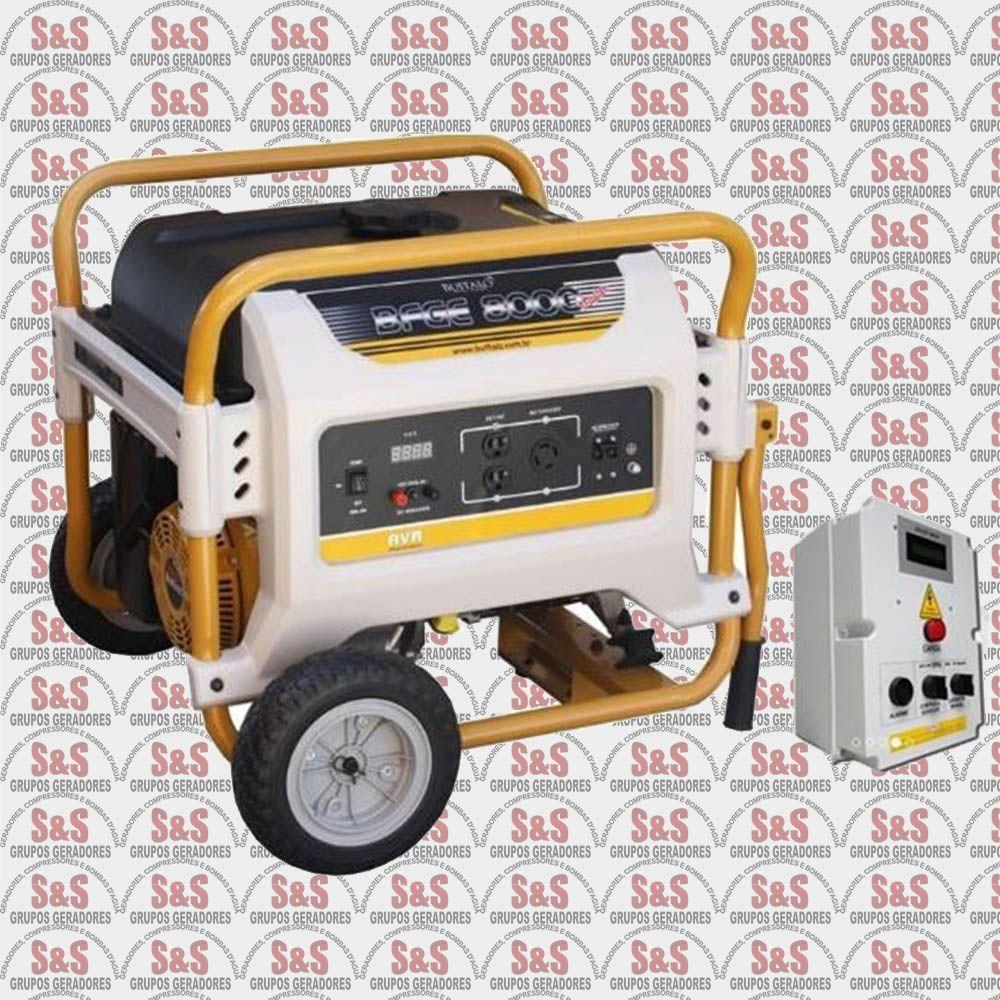 Gerador de Energia a Gasolina - Monofásico 8 KVA - Partida Eletrica - BFG8000QTA - Buffalo