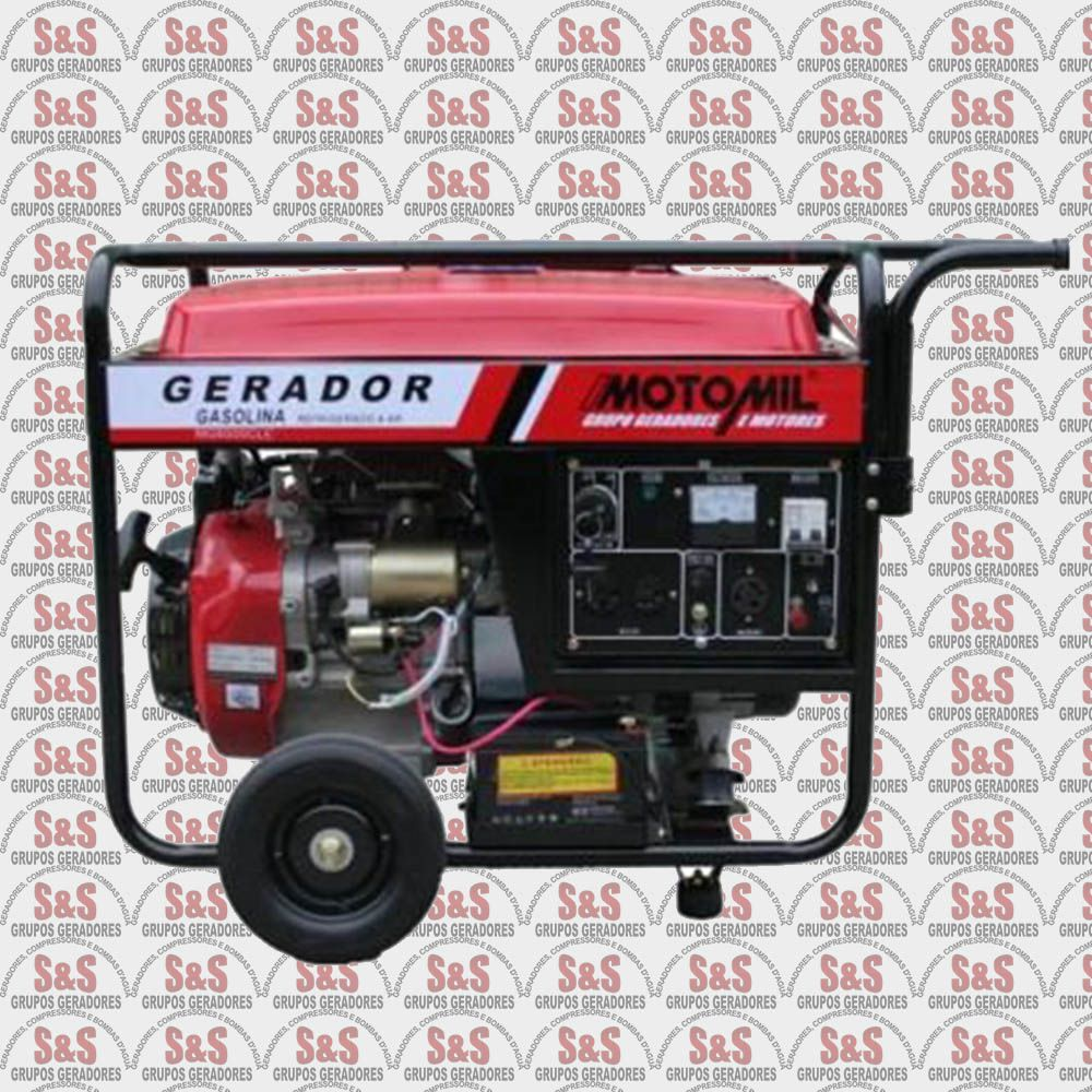 Gerador de Energia a Gasolina - Monofásico - Partida Elétrica - MG6000CLE - Motomil