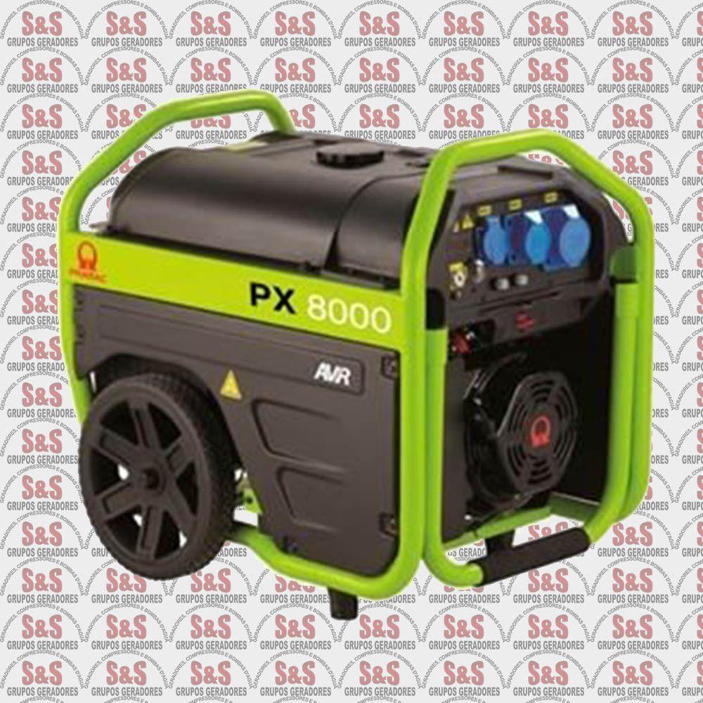 Gerador de Energia a Gasolina - Monofásico - Partida Elétrica - PX8000 - Pramac
