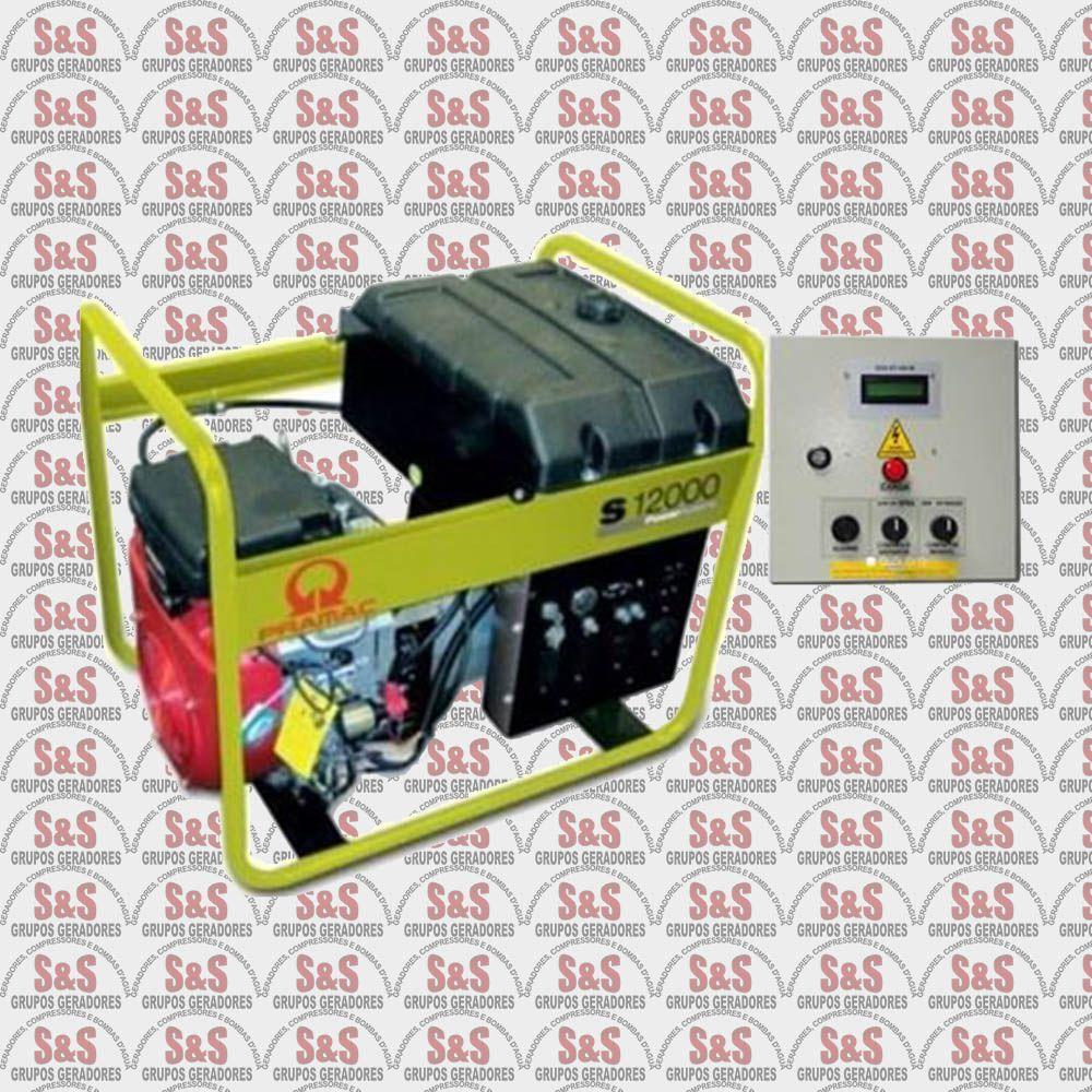 Gerador de Energia a Gasolina - Partida Automática 12 KVA -  Semi Novo -  S12000QTA - Honda