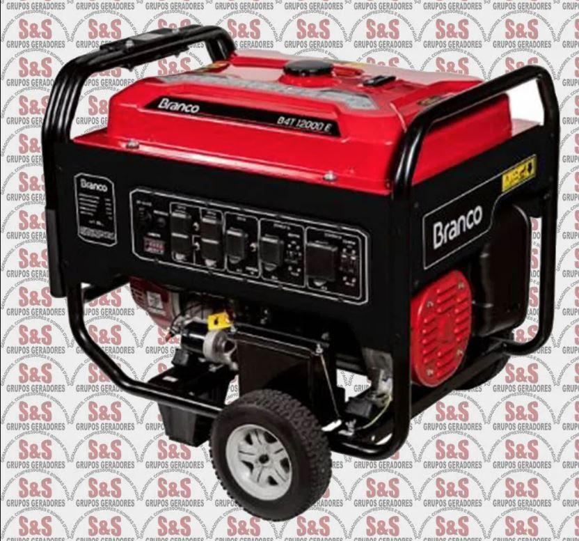 Gerador de energia a Gasolina Trifásico - 13KVA B4T12000E3 - 380V - BRANCO