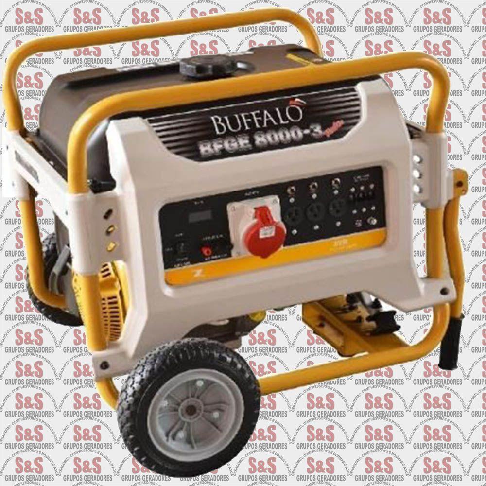 Gerador de Energia a Gasolina - Trifásico 220V - 8KVA - Partida Eletrica - BFGE 8000 Master - Buffalo