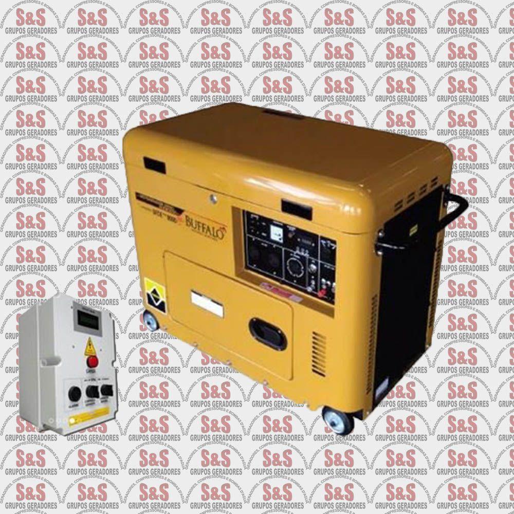 Gerador de Energia Diesel Trifásico 380V Partida Elétrica BFDE 8000 PLUS QTA 30 Amperes - Buffalo
