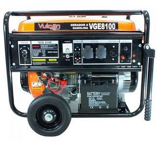Gerador de Energia Vulcan VGE 8100 8 kva Monofásico Partida Elétrica
