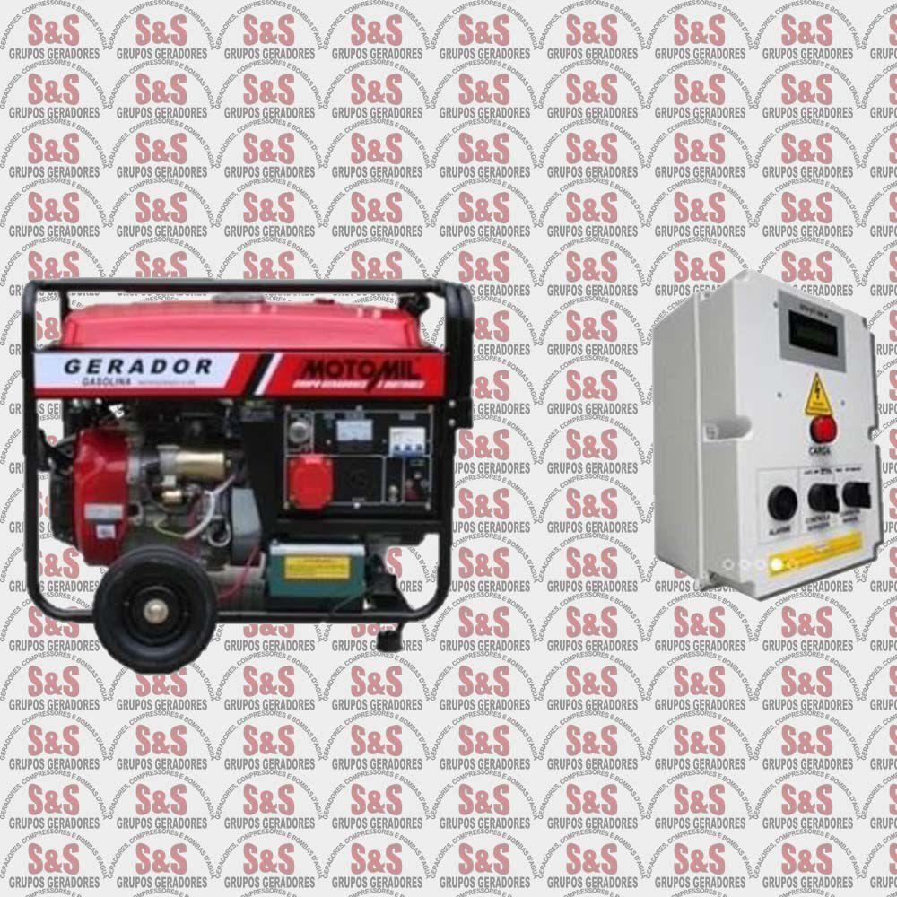 Gerador Motomil 8KVA Gasolina Trifásico 220V Automativo