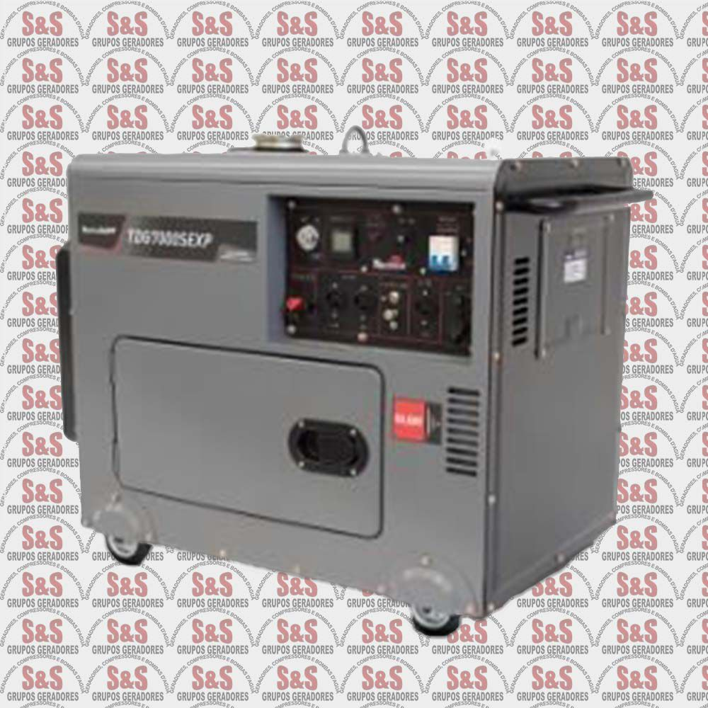 Grupo Gerador de energia 6 Kva Diesel-cabinado-Partida Elétrica com AVR - TDG7000SEXP