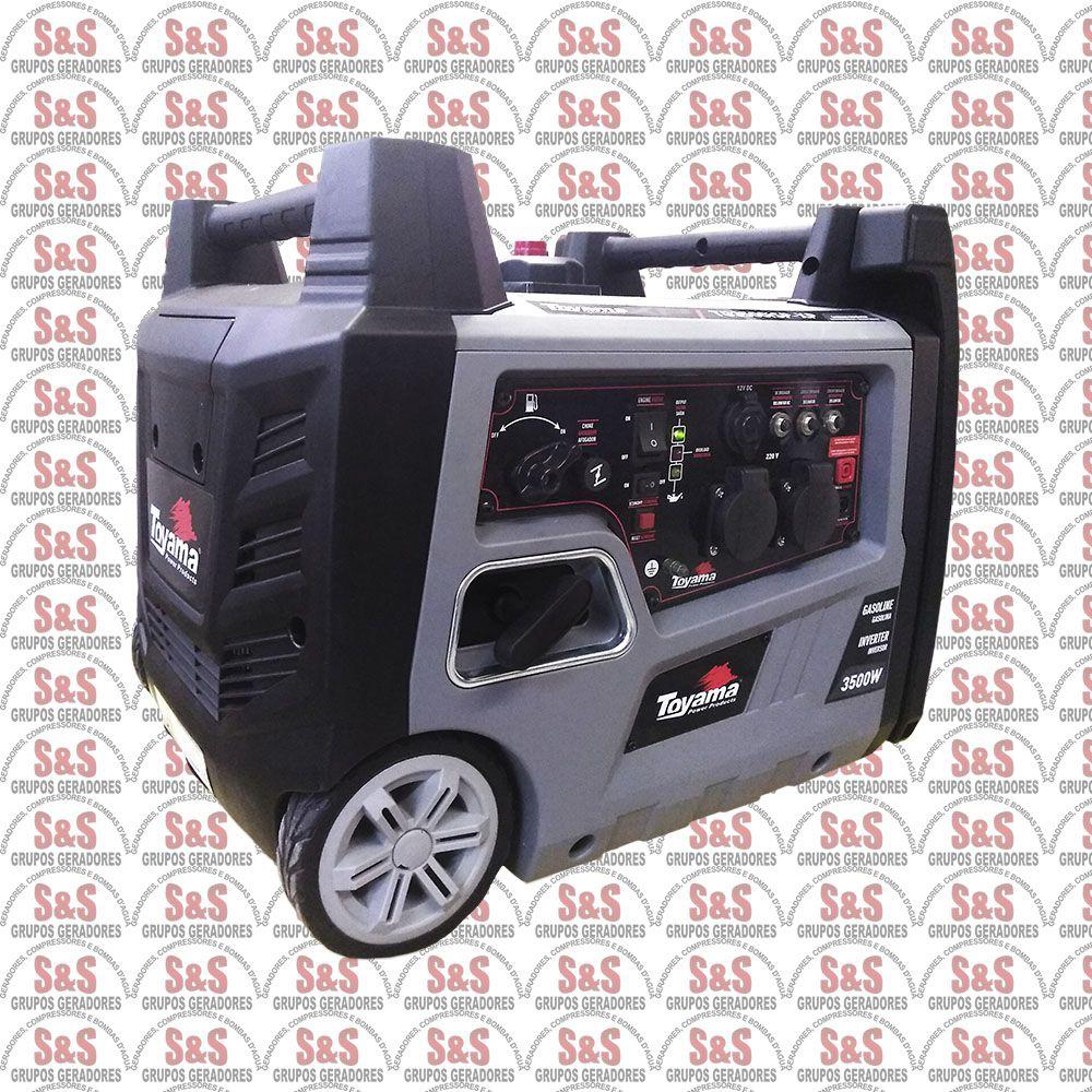 GERADOR DE ENERGIA INVERTER DIGITAL TOYAMA TG3500ISPXP 220V PORTÁTIL SILENCIOSO
