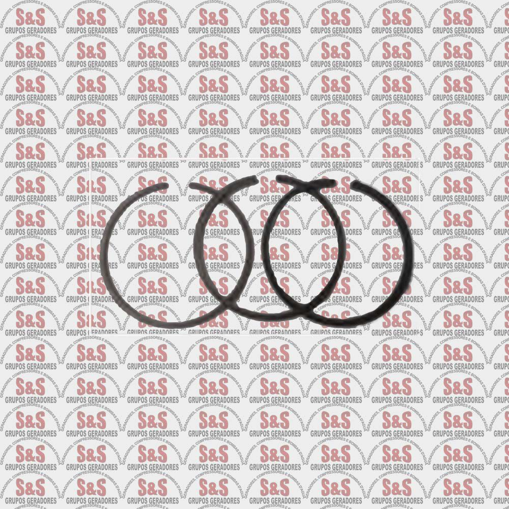 Jogo de Anel do pistão 65mm - MBV10/15-MAW20 Motomil