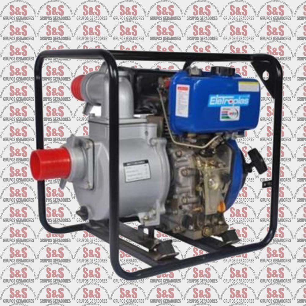 "Motobomba a Diesel 4,2 HP Auto-Escorvante - 2""x2"" - EMDC50C2 - Eletroplas"