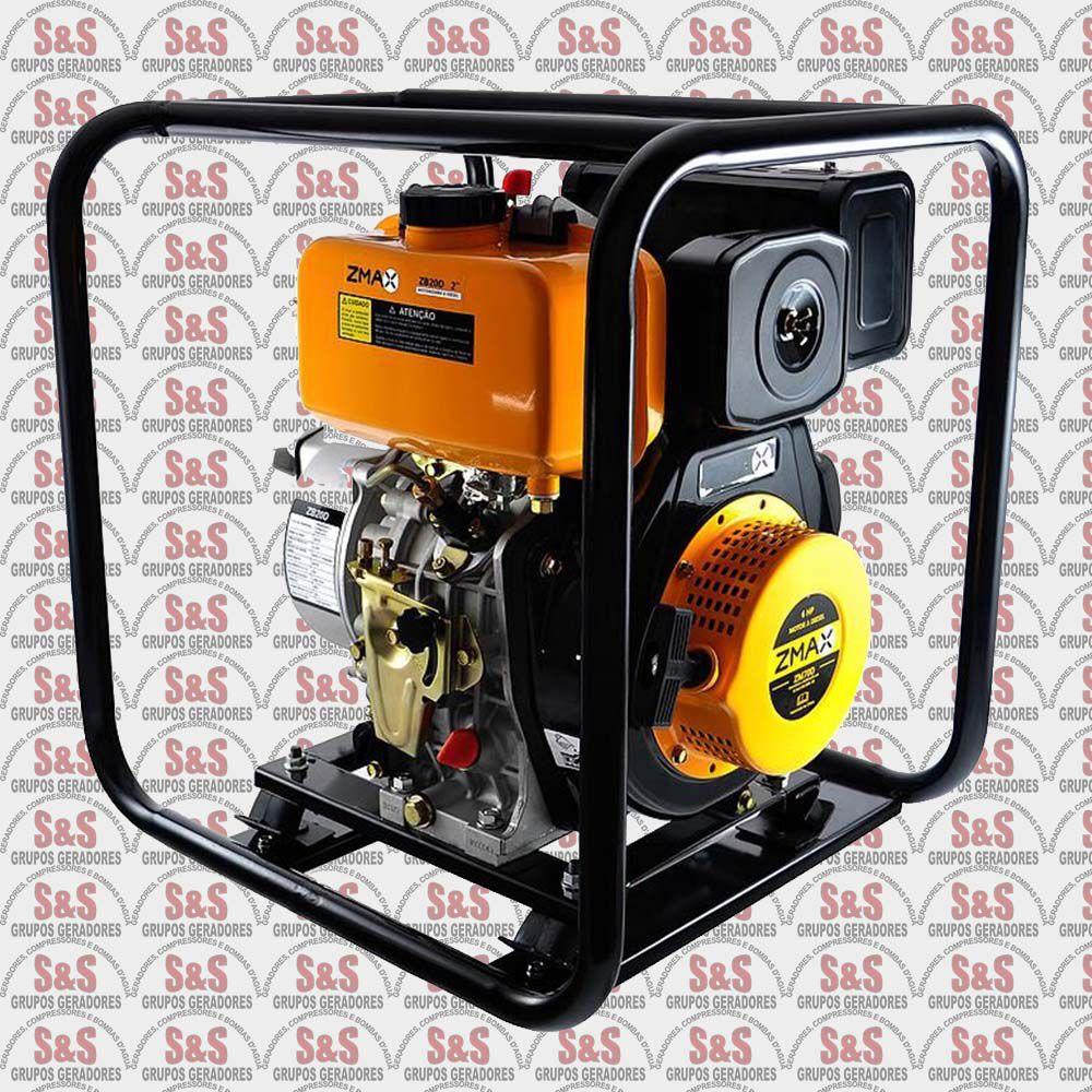 Motobomba a Diesel 6.0HP - Auto-Escorvante - ZB20D - ZMAX