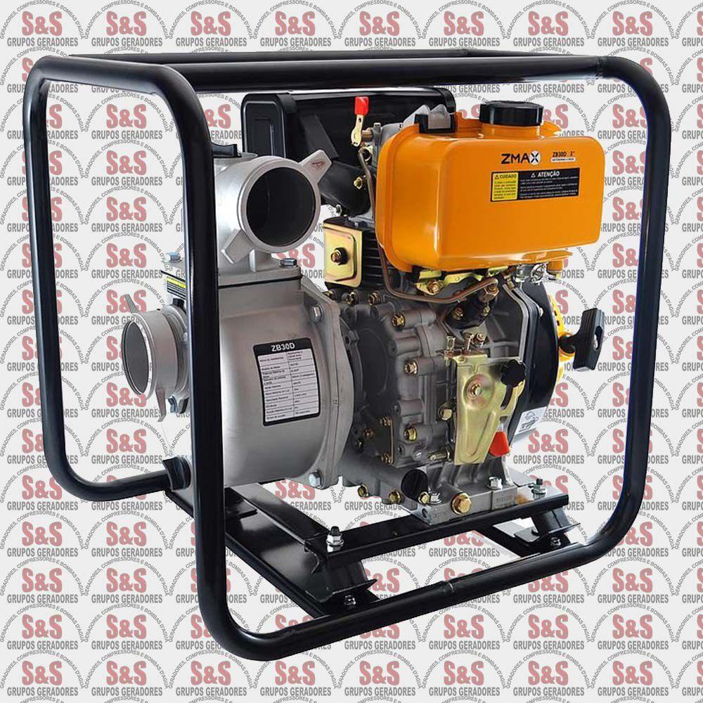 Motobomba a Diesel - 6.0HP - Auto-Escorvante - ZB30D - ZMAX