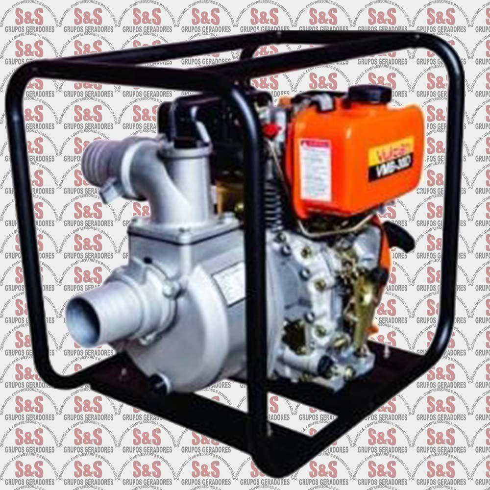 "Motobomba a Diesel -  Auto Escorvante 3"" x 3"" - 4 Tempos 5HP - VMB30D -  Vulcan"